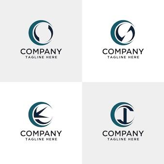 Letter ijk en l modern logo binnen de cirkel