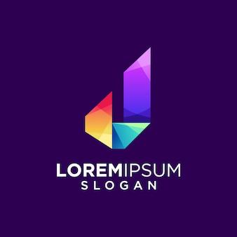Letter j logo ontwerp