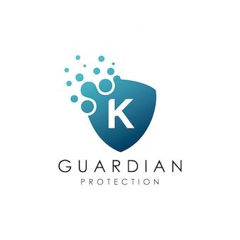 Letter k dot shield-logo