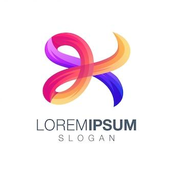 Letter k gradiëntkleur logo ontwerp