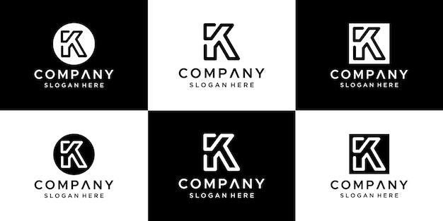 Letter k-logo verwaardigen abstract