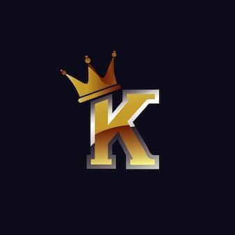 Letter k met kroonlogo