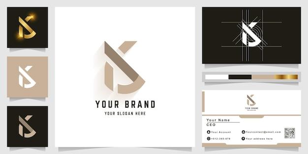 Letter k of ak monogram logo met visitekaartje ontwerp