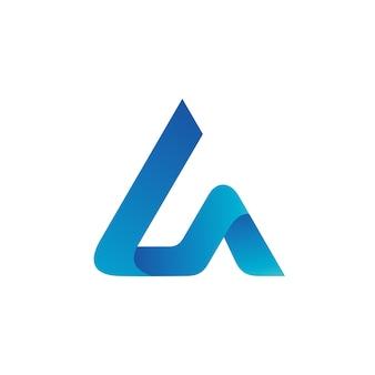 Letter l en a logo vector