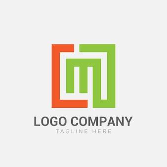 Letter lm logo sjabloon