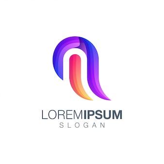 Letter m abstract kleurverloop logo
