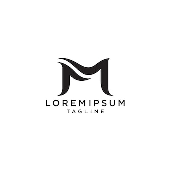 Letter m eerste logo sjabloon.