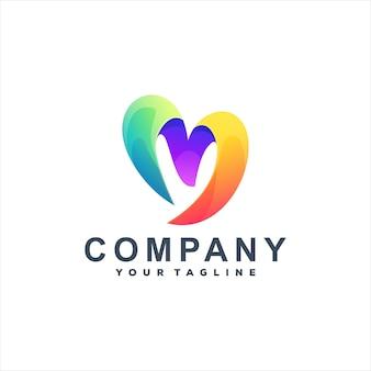 Letter m gradiënt logo-ontwerp