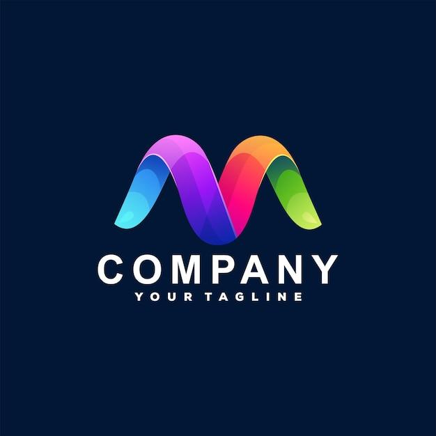 Letter m kleurovergang logo