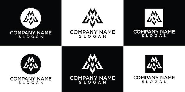 Letter m logo collectie gratis