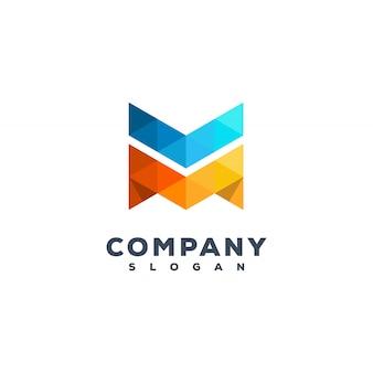 Letter m logo ontwerp