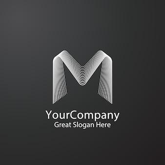 Letter m logo symbool ontwerp voor modemerk