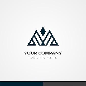 Letter m monogram logo ontwerp