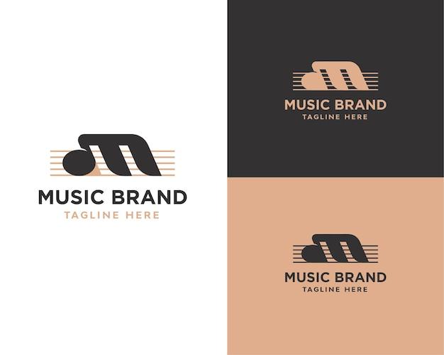 Letter m muziek logo