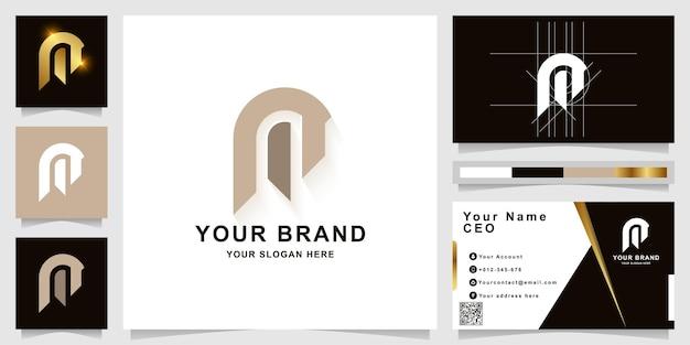 Letter m of een monogram logo sjabloon met visitekaartje ontwerp