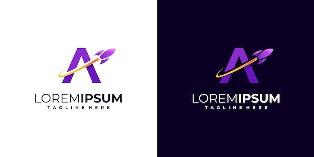 Letter mark raket logo