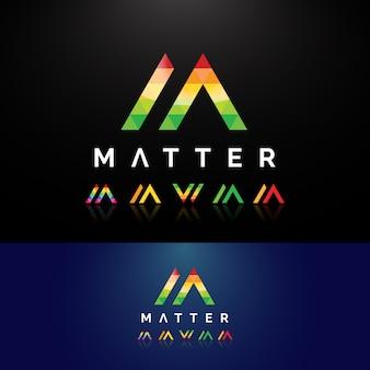 Letter mw modern logo