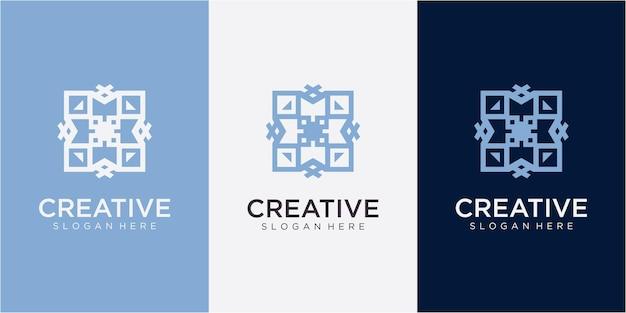Letter mx community-logo-ontwerpinspiratie met visitekaartje