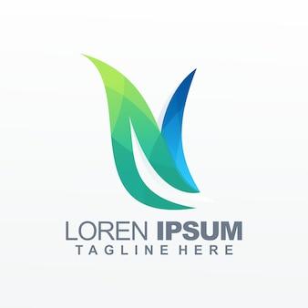Letter n gradiënt logo