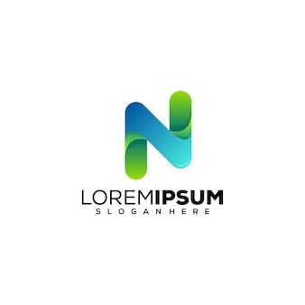 Letter n logo ontwerp