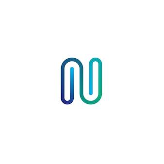 Letter n logo pictogram elementen