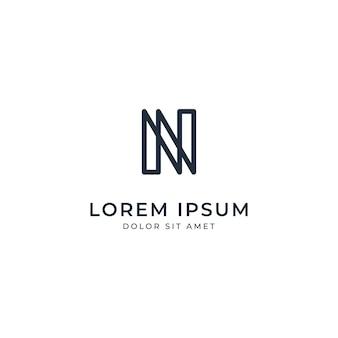 Letter n logo sjabloon