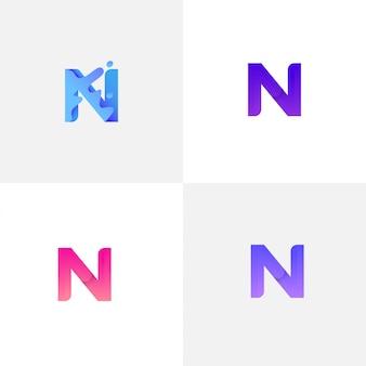 Letter n met vloeistof