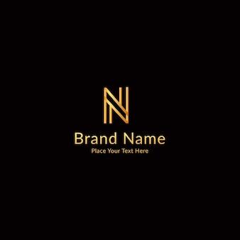 Letter n modern luxe logo-ontwerp