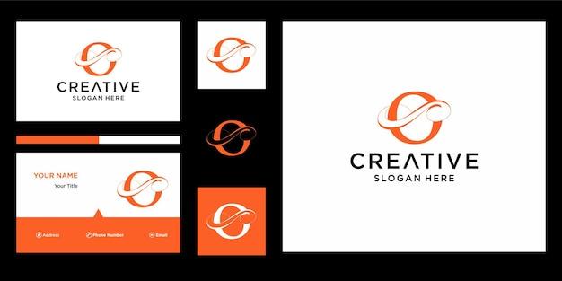 Letter o elegant logo-ontwerp met visitekaartjeontwerp