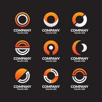 Letter o logo-collectie