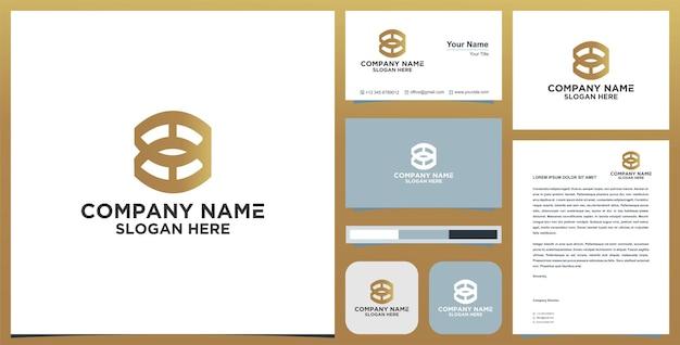 Letter o-logo en visitekaartjeontwerp premium vector