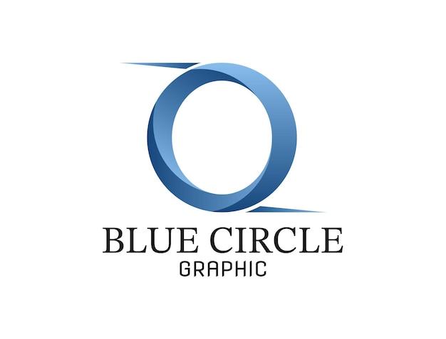 Letter o met blauwe gradaties voor grafische logo's of voor anderen