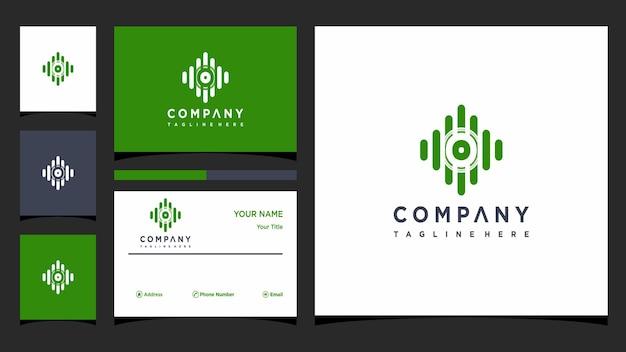 Letter o muziek logo ontwerp vector premium vector