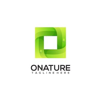 Letter o natuur logo verloop