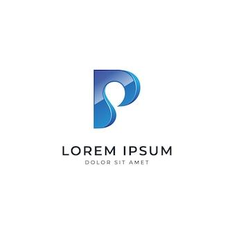 Letter p-logo sjabloon