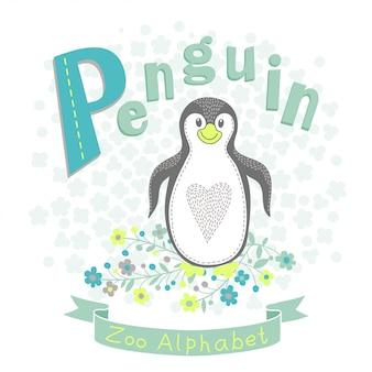 Letter p - penguin