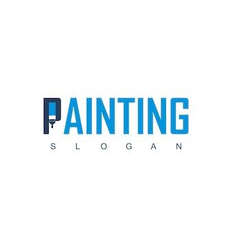 Letter p voor het schilderen van bedrijfslogo