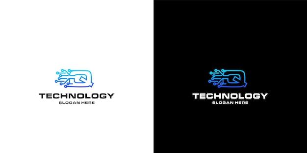 Letter q-technologie nft's logo-ontwerp