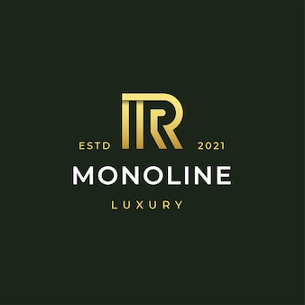 Letter r moderne logo pictogram illustratie strepen lijnstijl