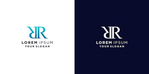 Letter rr logo ontwerp