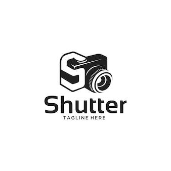 Letter s en sluitertijd camera-logo