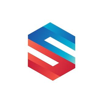 Letter s geometrische logo sjabloon