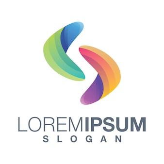 Letter s gradiënt collectie logo