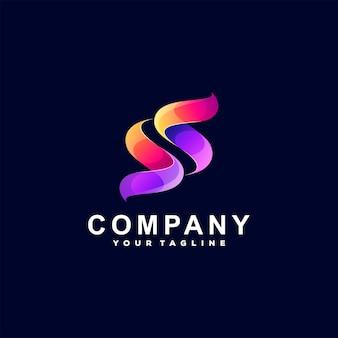 Letter s kleurovergang logo