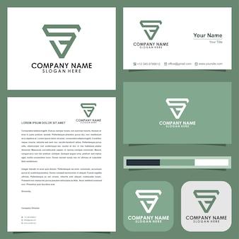 Letter s-logo en visitekaartje Premium Vector
