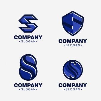 Letter s logo template set