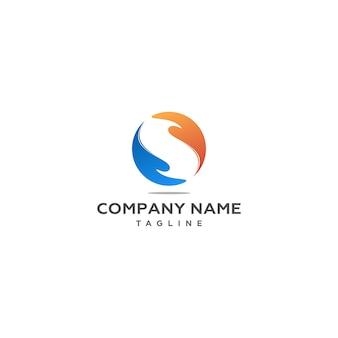 Letter s met twee handen logo