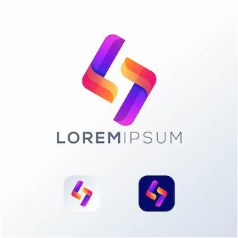 Letter s pictogram logo