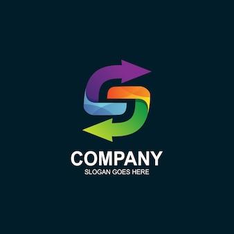 Letter s pijl logo