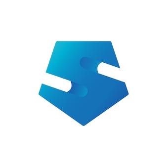 Letter s shield logo template